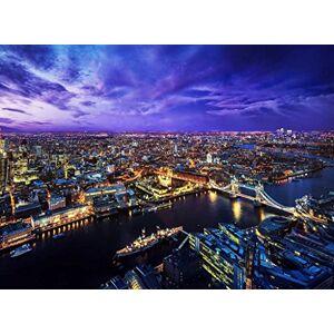 Sim-Puzzle Sim, Materiales de Madera respetuosos con el Medio Ambiente, un Buen Rompecabezas para Jugadores de puzles de 500 Piezas 20.6 x 15.1 Pulgadas en Caja de presentación: London Skyline At Night