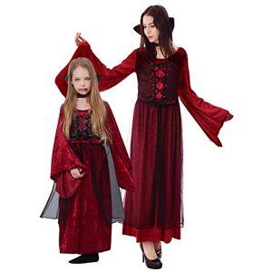 IKALI Disfraz de vampiro para niña, vestido de princesa para fiesta de Halloween