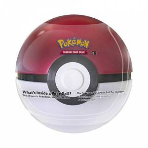 Pokemon TCG: Poke Ball Tin Red 3 Booster Pack with 1 Coin