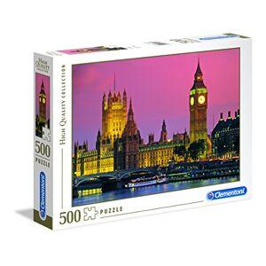 Clementoni London 500pieza(s) Rompecabezas (Jigsaw Puzzle, Ciudad, 9 Año(s), Cartón, 344 x 254 x 46 mm, 481 g)