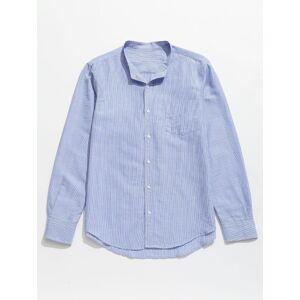 Zaful Camisa con botones de bolsillo a rayas