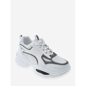 Zaful Contraste Ajuste de malla transpirable zapatillas de papá