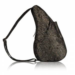 Healthy Back Bag Mochila Transversal Wallis Chica Flores Negro