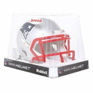 NFL Casco Mini Riddell NFL Speed New England Patriots. - Masculino - Plata+Rojo