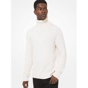 Michael Kors MK Cable Nylon Blend Sweater - Bone - Michael Kors