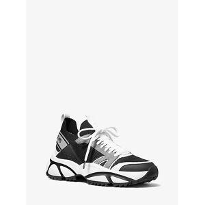 Michael Kors Mens MK Lucas Knit Trainer - Black/grey - Michael Kors