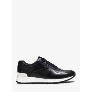 MICHAEL Michael Kors MK Allie Leather Sneaker - Black - Michael Kors