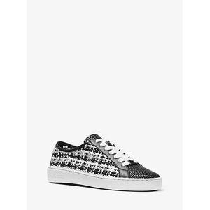 MICHAEL Michael Kors MK Olivia Metallic Woven Sneaker - Black - Michael Kors