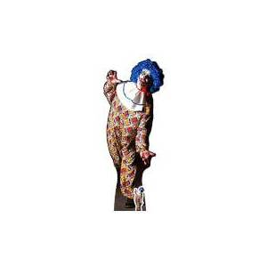 Star Cutouts IT IS A VERY Scary Male Clown Lifesize Cardboard Cut Out