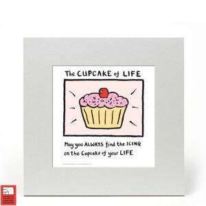 Edward Monkton Fine Art Print - Cupcake of Life