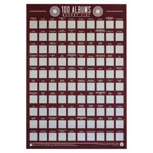 Gift Republic 100 Albums Bucket List Poster