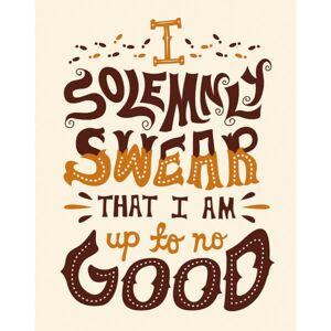 Iron Gut Publishing Harry Potter 'I Solemnly Swear' Art Print