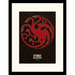 Pyramid Game of Thrones Targaryen Mounted 30 x 40cm Print