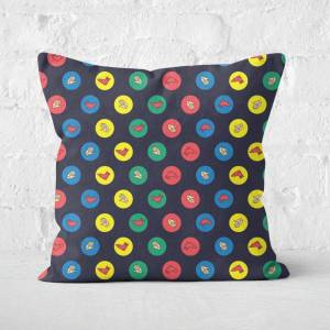 Hasbro Twister Black Square Cushion - 50x50cm - Eco Friendly