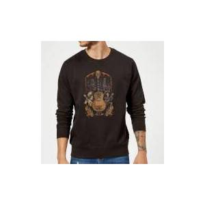 Pixar Coco Guitar Poster Sweatshirt - Black - L - Black