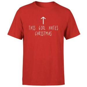 The Christmas Collection This Girl Hates Christmas T-Shirt - Red - XXL - Red