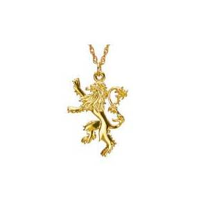 Noble Collection Game of Thrones Gold Plated House Lannister Sterling Silver Pendant