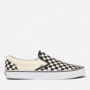 Vans Classic Slip-On Trainers - Black/White Checkerboard - UK 7