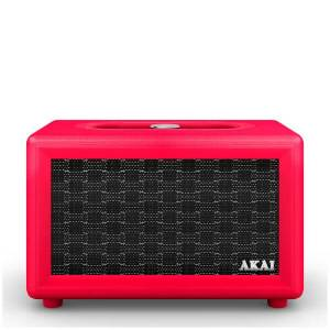 Akai Retro Bluetooth Speaker (2 x 12.5W) - Red