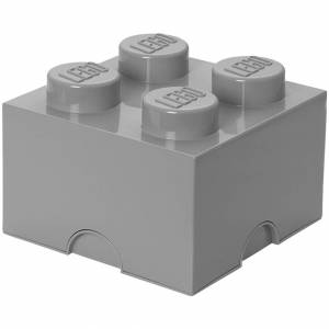 Room Copenhagen LEGO Storage Brick 4 - Medium Stone Grey