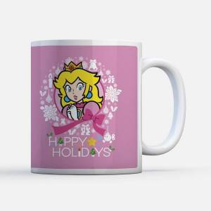 Nintendo Super Mario Peach Wreath Mug