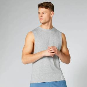 Myprotein Luxe Classic Drop Tanktop - Silver - S