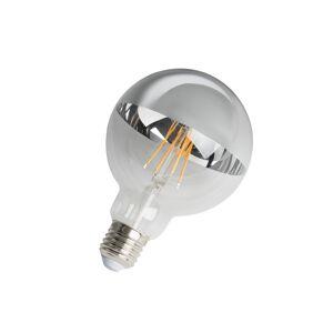 Calex E27 dimbare LED filamentlamp kopspiegel G95 zilver 280lm 2300K