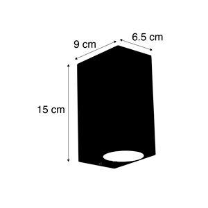 QAZQA Moderne wandlamp aluminium IP44 - Baleno II