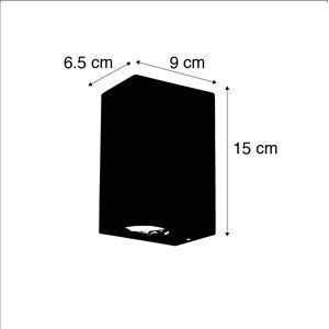 QAZQA Industriële wandlamp roestbruin IP44 - Baleno II