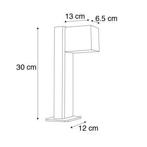 QAZQA Industriële staande buitenlamp roestbruin 30 cm IP44 - Baleno