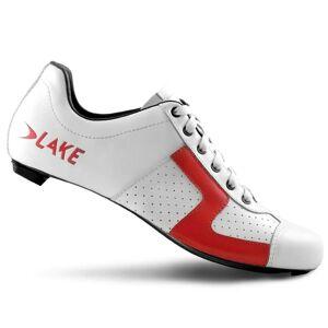 Lake CX1C Road Shoes - EU 43 - White/Red