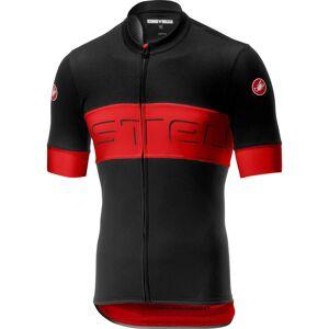 Castelli Prologo VI Jersey - L - Black/Red/Black