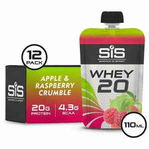 Science in Sport Whey20 Protein Supplement 110g Sachet Pack of 12 - Apple And Rasberrry Crumble