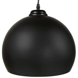 Alterego Zwarte bolvormige design hanglamp 'DOUGLAS'