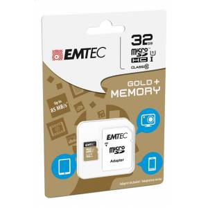Emtec geheugenkaart microSDHC class10 32 GB