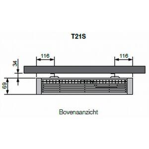 Vasco Flatline T21s paneelradiator type 21 - 160 x 40 cm (L x H)