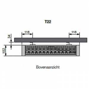 Vasco Flatline T22 paneelradiator type 22 - 120 x 70 cm (L x H)