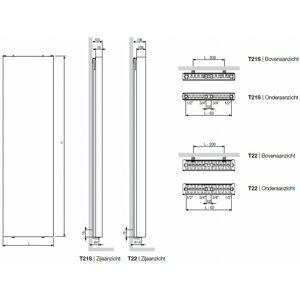 Vasco Flat-V-Line verticale radiator type 21s - 180x50 cm (H x L)