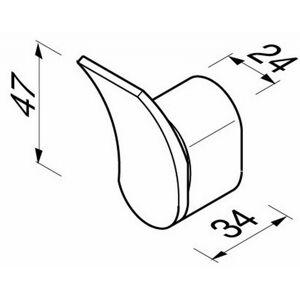 Geesa Wynk handdoekhaak 4,7 cm. hoog chroom