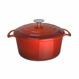 Vogue ronde braadpan rood 3,2ltr