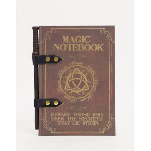 Menkind notebook and wand pen-Brown