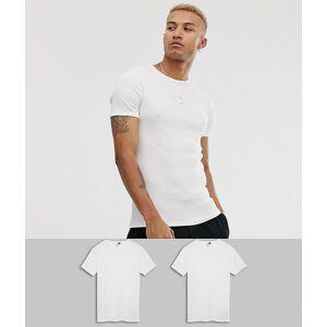 G-Star organic cotton tonal logo slim fit 2-pack t-shirt in white