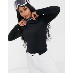 Missguided ski base layer body with high neck in black