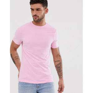 River Island muscle fit crew neck t-shirt in pink