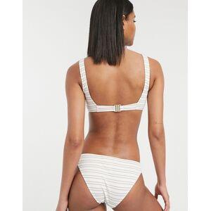 Accessorize high leg bikini bottom in stripe-Multi