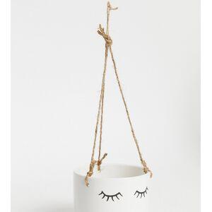 Sass & Belle eyes shut hanging planter-White
