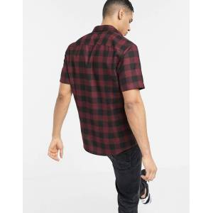 River Island check shirt in berry-Red