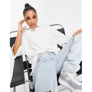 Missguided basics oversized t-shirt in white