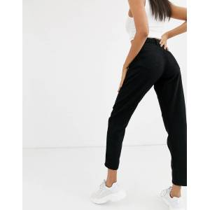 Missguided mom jeans in black