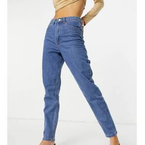 Missguided riot high waisted mom jean in blue
